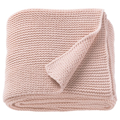 INGABRITTA Throw, pale pink, 51x67 ""