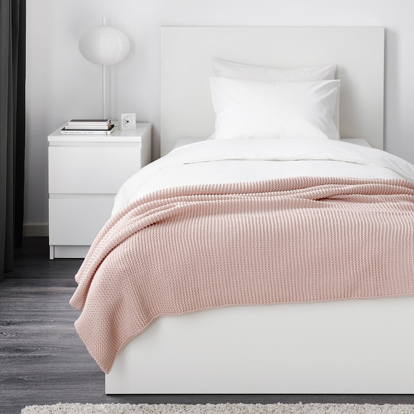 "INGABRITTA throw pale pink 67 "" 51 "" 38 oz"