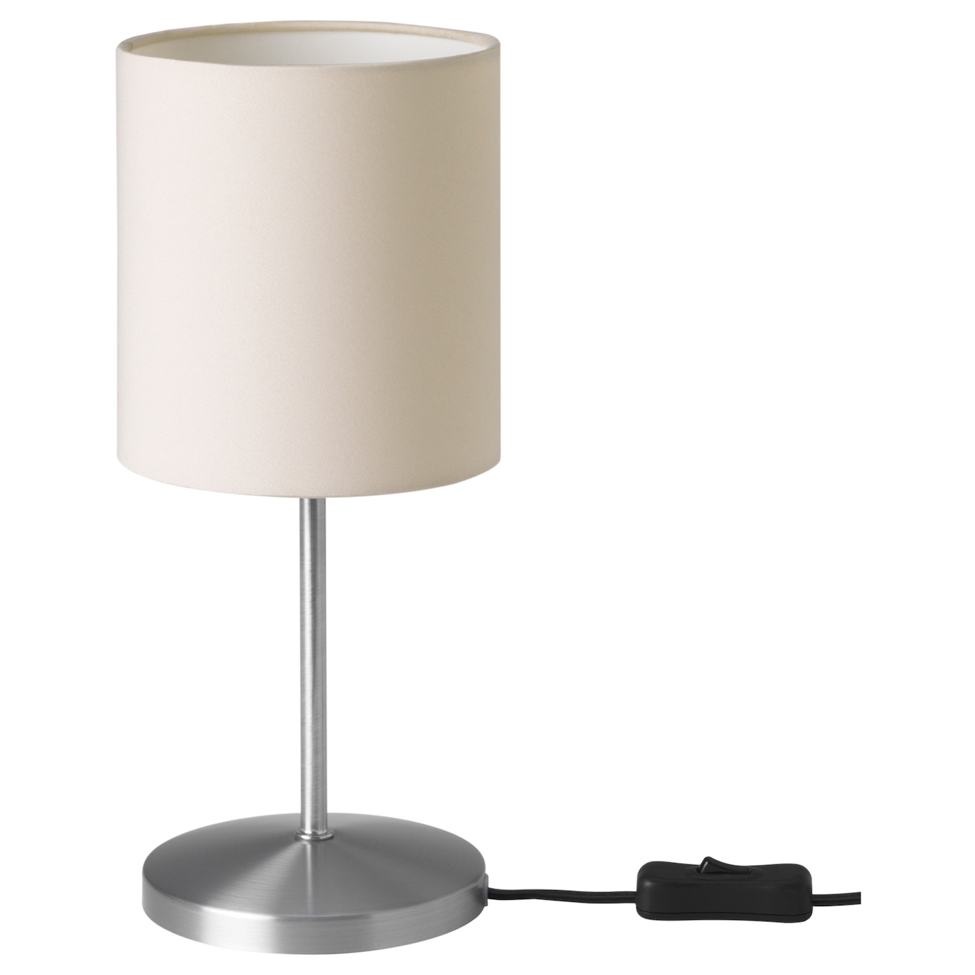 INGARED - Table lamp with LED bulb, beige