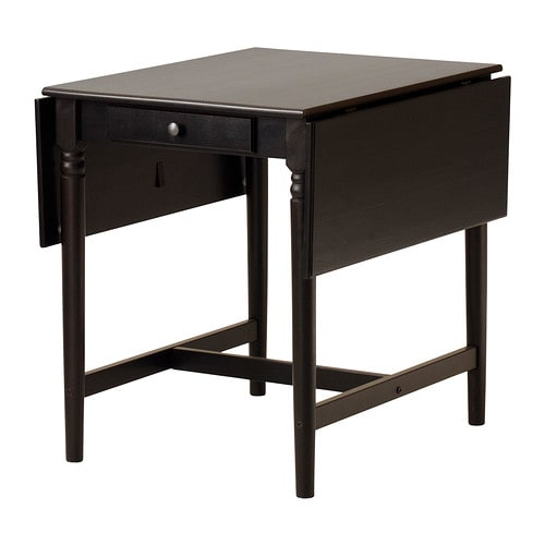 Ikea Folding Table Drop Leaf ~ INGATORP Drop leaf table IKEA Table with drop leaves seats 2 4; makes