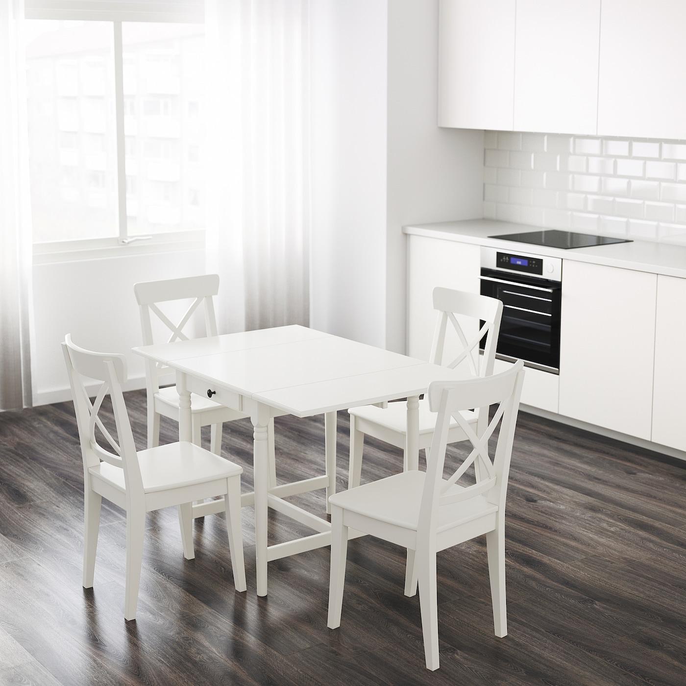 Ingatorp Drop Leaf Table White Ikea