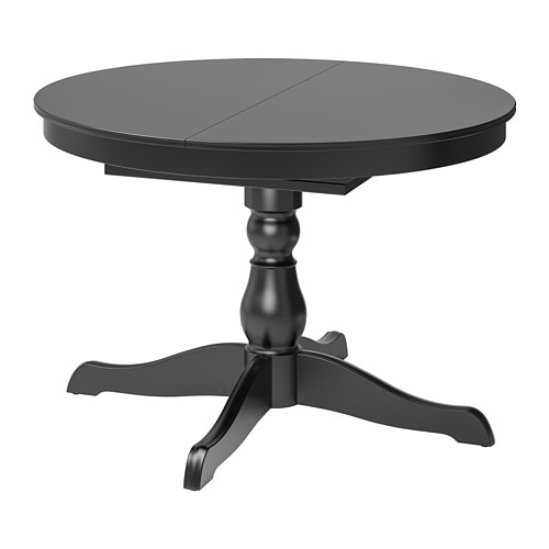 Ingatorp Rundt Bord.Ingatorp Extendable Table Black