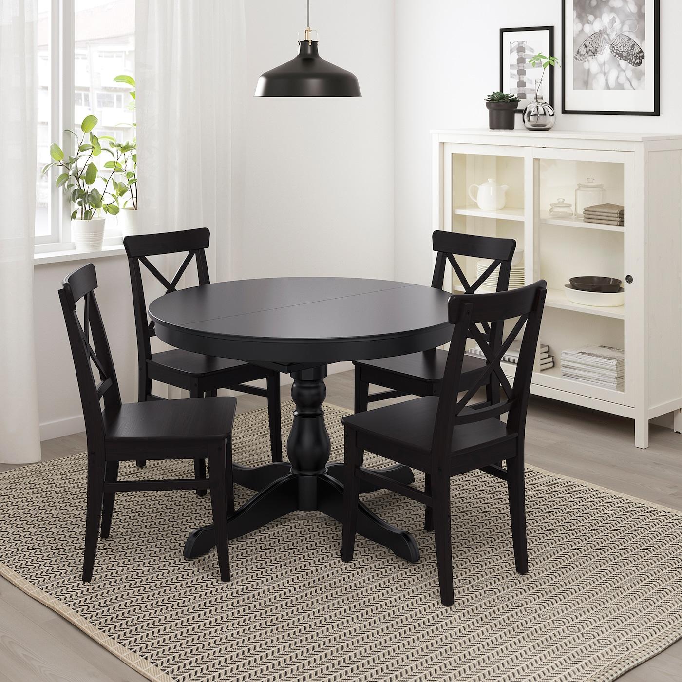 Ingatorp Extendable Table Black Max Length 61 Ikea