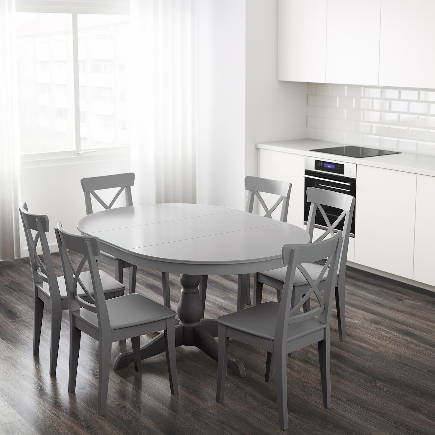 Ingatorp Extendable Table Gray Ikea