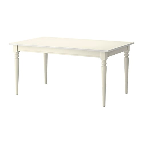 INGATORP Extendable table, white