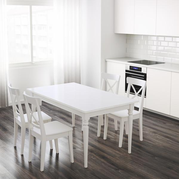 "INGATORP Extendable table, white, 61/84 5/8x34 1/4 """