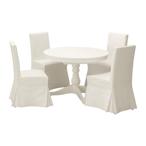 INGATORP / HENRIKSDAL Table and 4 chairs, white, Blekinge white