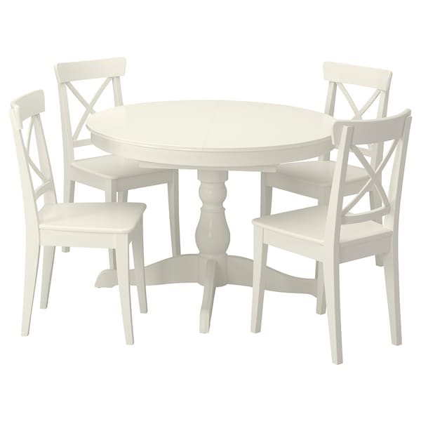 """INGATORP / INGOLF Table and 4 chairs, white/white, 43 1/4/61 """""""
