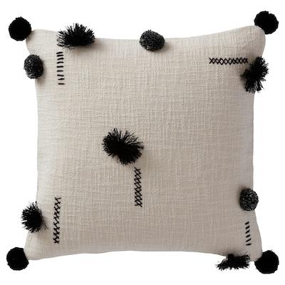 "INGIARA Cushion cover, gray/black, 20x20 """
