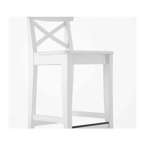 ingolf bar stool with backrest 29 1 8 ikea
