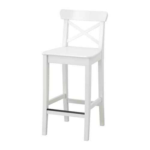 ikea barstol INGOLF Bar stool with backrest   29 1/8