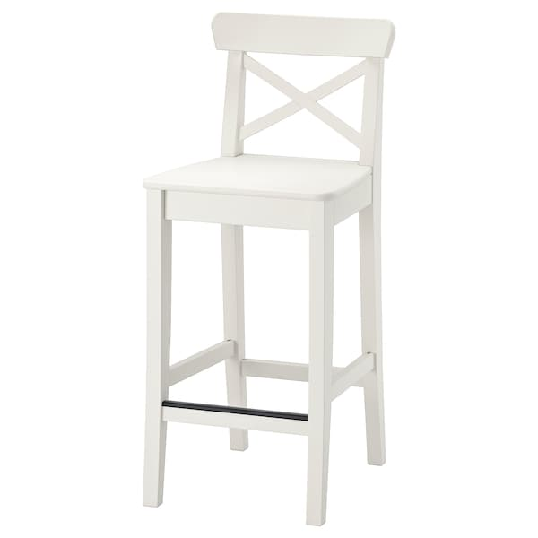 IKEA INGOLF Bar stool with backrest