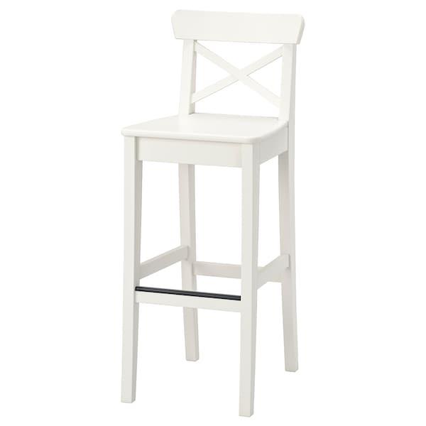 Fabulous Bar Stool With Backrest Ingolf White Dailytribune Chair Design For Home Dailytribuneorg