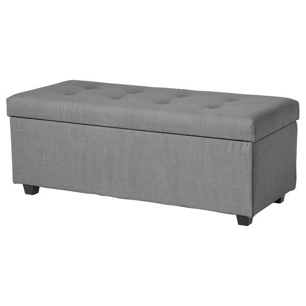 Excellent Storage Bench Inndyr Nordvalla Dark Gray Black Machost Co Dining Chair Design Ideas Machostcouk