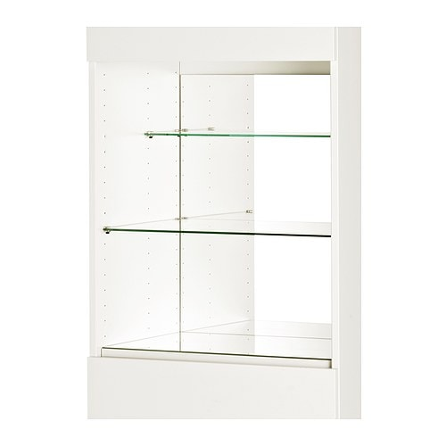 Ikea Wickelkommode Leksvik Gebraucht ~ INREDA Mirrored glass shelf insert IKEA For objects you want to