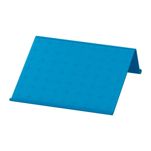 Isberget tablet stand blue ikea for Ikea stand up pupitres