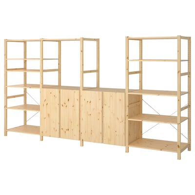"IVAR 4 section shelving unit, pine, 135 3/8x19 5/8x70 1/2 """