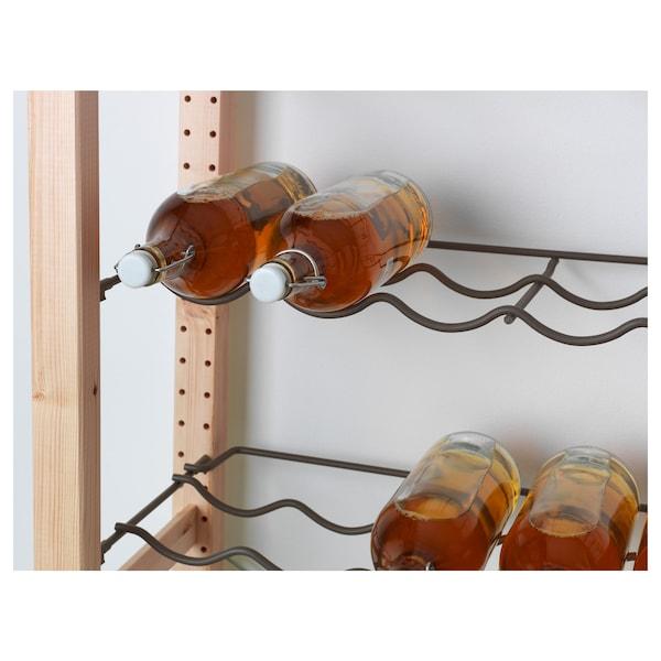 """IVAR Bottle rack, gray, 32 5/8x11 3/4 """""""