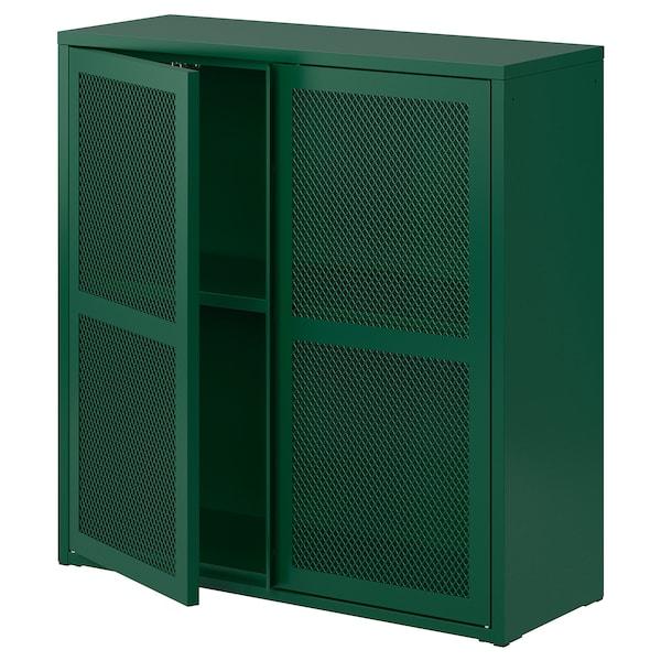 """IVAR Cabinet with doors, green mesh, 31 1/2x32 5/8 """""""