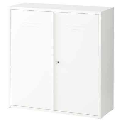 IVAR Cabinet with doors, white, 31 1/2x32 5/8 ""