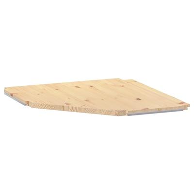 "IVAR Corner shelf, pine, 22x22x12 """