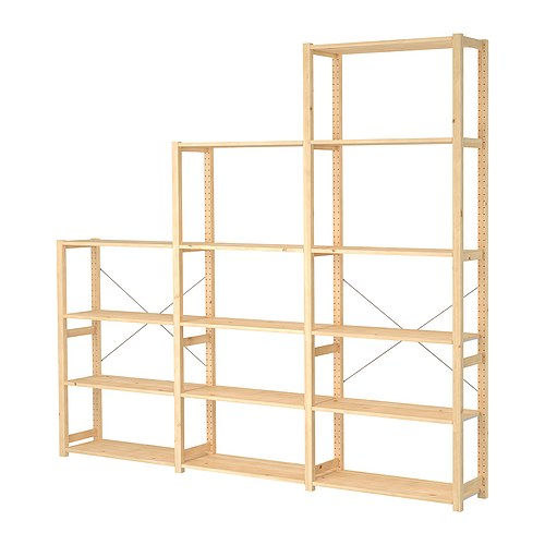 Ivar 3 section shelving unit ikea - Scaffali in legno ikea ...