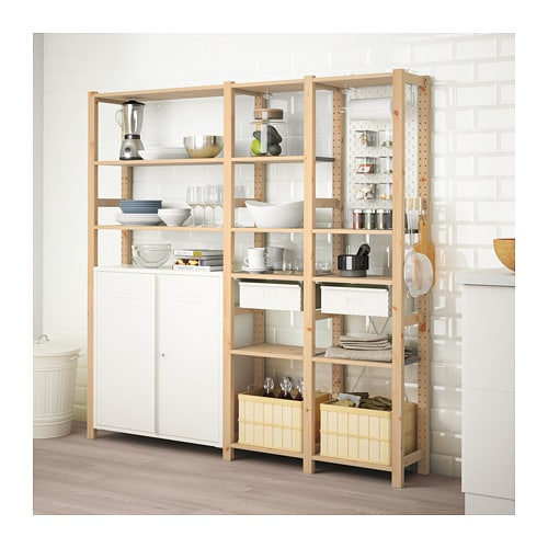 Ivar 3 Sections Cabinet Shelves