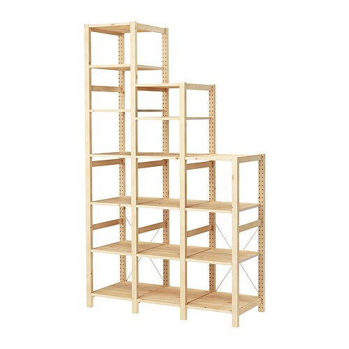 Ivar 3 sections shelves ikea for Ikea scaffali ivar