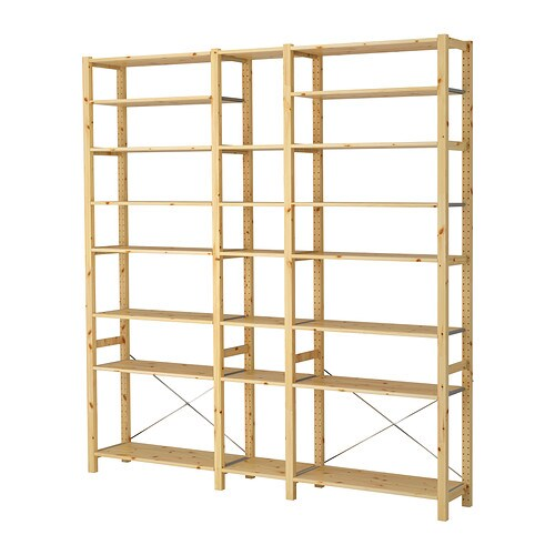 Ivar 3 sections shelves ikea - Etagere transparente ikea ...