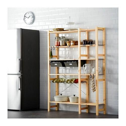 Ivar 2 sections w shelves drawers ikea - Estanteria algot ikea ...
