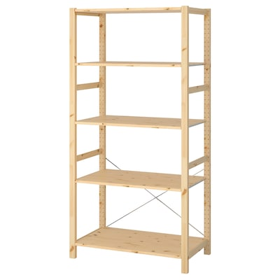 "IVAR shelf unit pine 35 "" 19 5/8 "" 70 1/2 """