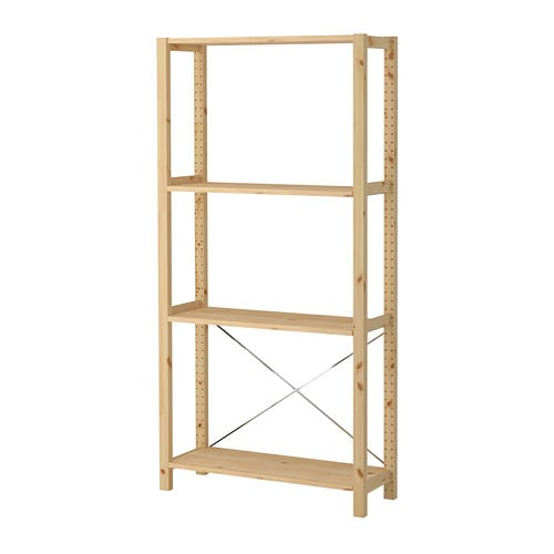IVAR Shelving unit IKEA Untreated solid pine is a durable natural material that can be painted, oiled or stained according to preference.