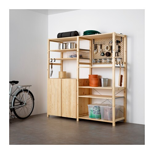 Merveilleux IVAR / SKÅDIS 2 Section Storage Unit W/cabinets