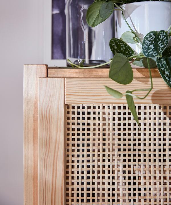 """IVAR Storage combination with doors, pine, 68 1/2x11 3/4x70 1/2 """""""