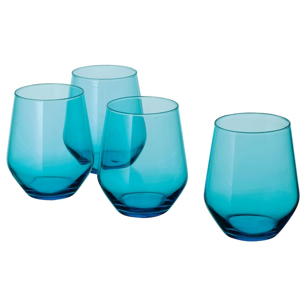 """IVRIG glass turquoise 4 """" 15 oz 4 pack"""
