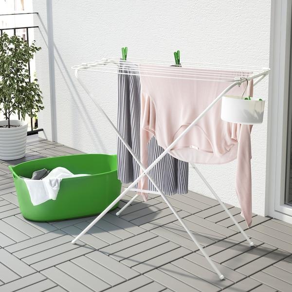 """JÄLL drying rack, indoor/outdoor white 31 """" 15 ¾ """" 32 ¼ """""""