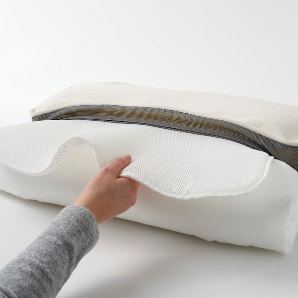 "JÄRPÖN/DUVHOLMEN Back cushion, outdoor, white, 24 3/8x17 3/8 """