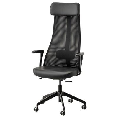 JÄRVFJÄLLET Office chair with armrests, Glose black
