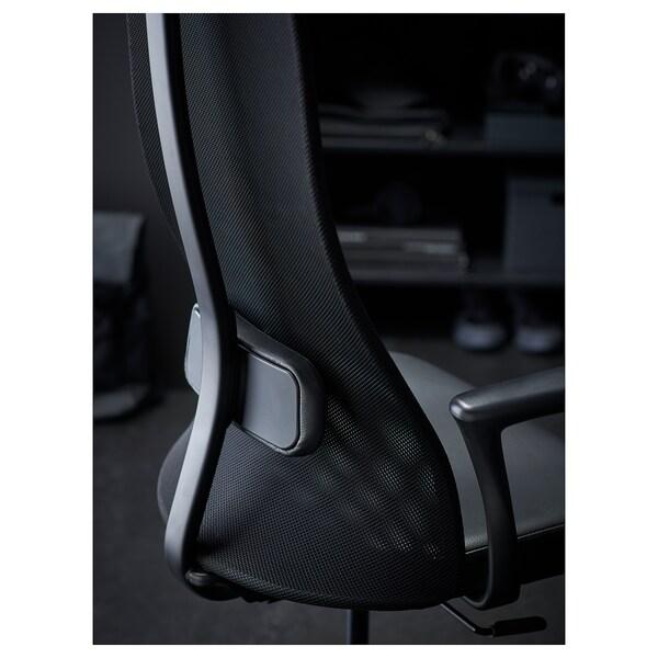 "JÄRVFJÄLLET office chair with armrests Glose black 243 lb 26 3/4 "" 26 3/4 "" 55 1/8 "" 20 1/2 "" 18 1/8 "" 17 3/4 "" 22 """