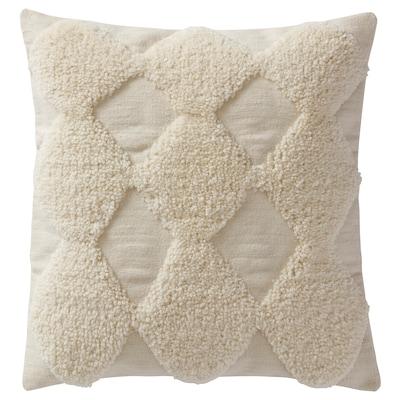 "JÄTTEBJÖRK Cushion cover, diamond pattern/white, 26x26 """