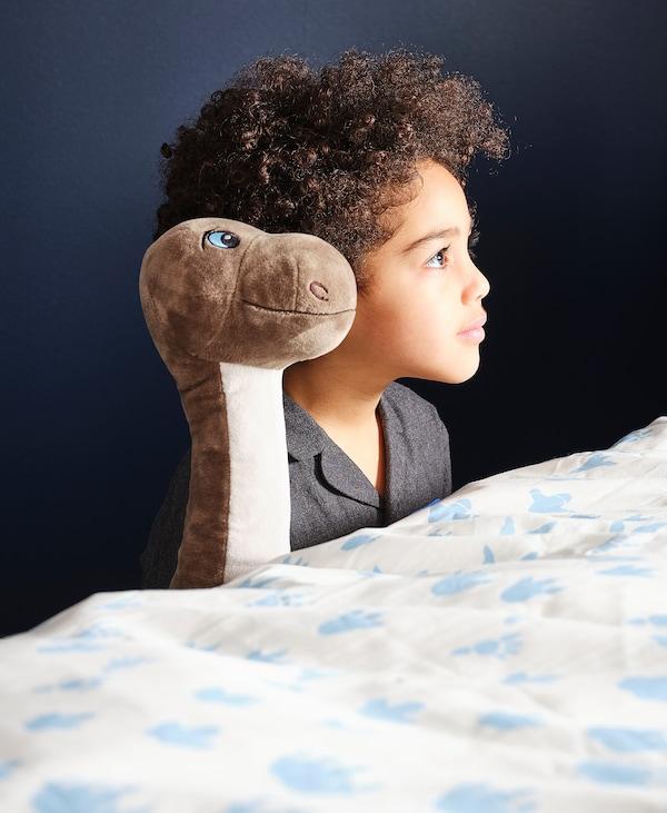 "JÄTTELIK Soft toy, dinosaur/dinosaur/brontosaurus, 22 """