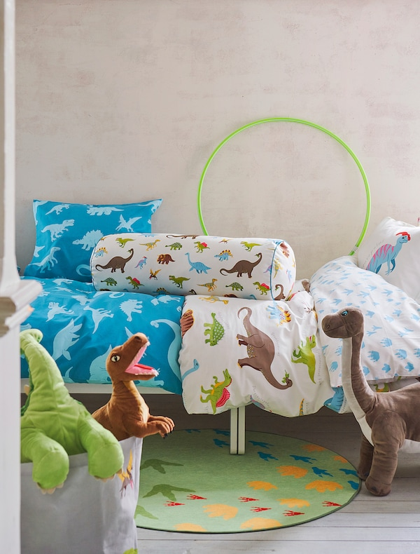 """JÄTTELIK Soft toy, dinosaur/dinosaur/velociraptor, 17 """""""