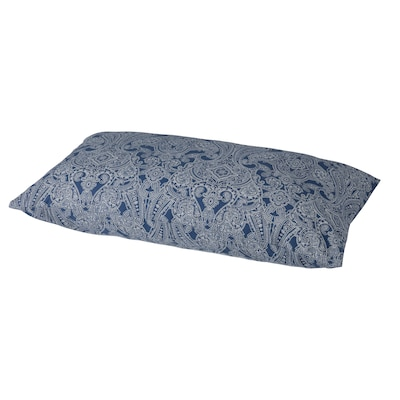 JÄTTEVALLMO Pillowcase, dark blue/white, Queen