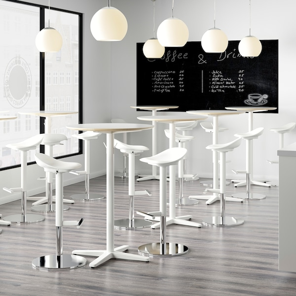 JANINGE Bar stool, white, 29 7/8 ""