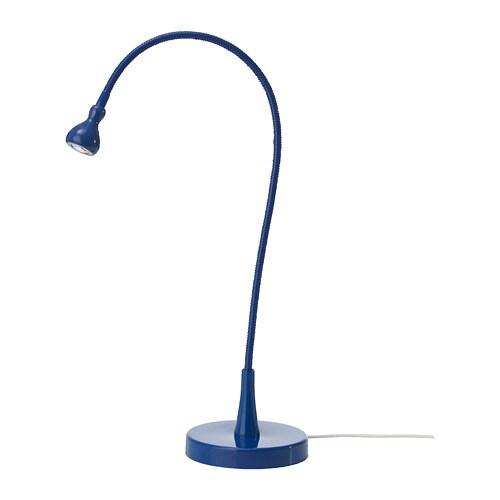 JANSJÖ Lámpara de trabajo LED, azul oscuro