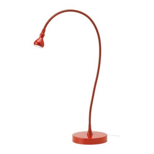 JANSJÖ lámpara de trabajo LED, rojo