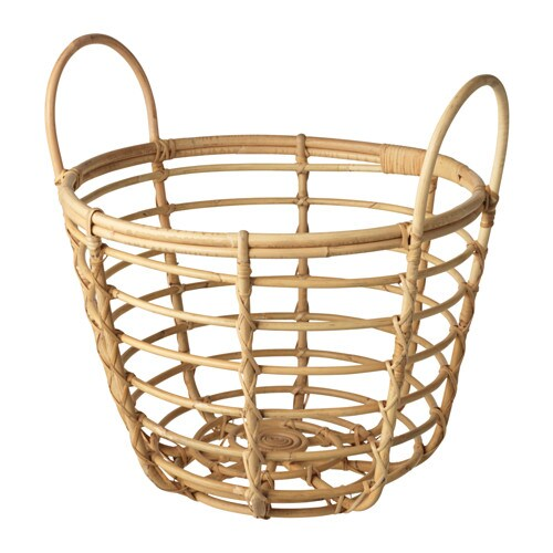JASSA Basket with handles IKEA Handmade by skilled craftspeople, which makes every product unique.