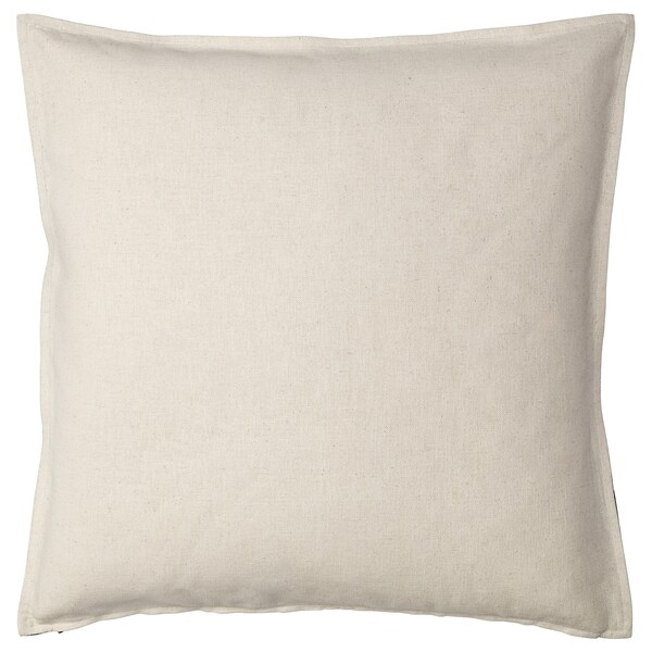 "JOHANNE cushion cover natural/black 26 "" 26 """