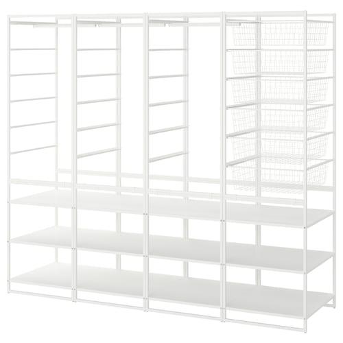 IKEA JONAXEL Frame/w bskts/clths rl/shlv uts