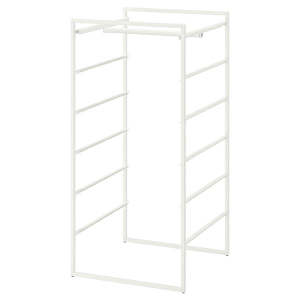 "JONAXEL Frame with clothes rail, white, 19 5/8x20 1/8x41 """